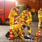 Brandweer spoelt riool door ivm vreemde lucht Wolwevershorst Apeldoorn