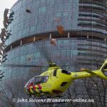 Traumahelikopter land aan de Waltersingel ivm incident aan de Planetenlaan Apeldoorn
