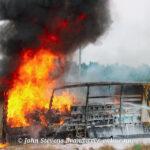 Grote inzet bij trailerbrand van vrachtwagen op de A50 bij Apeldoorn-Noord