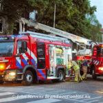 Grote brand in flatwoning Johannes Van Vlotenlaan Deventer(1 persoon aangehouden)