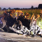 Ravage op de Fliertweg in Wilp na een ernstig eenzijdig ongeval