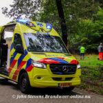 Traumahelikopter ingezet voor gewonden mountainbiker Turfbergweg Radio Kootwijk
