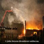 Grote brand industrie Burgermeester Moslaan Hattem